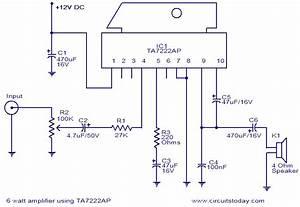 All Electronics  6 Watt Audio Amplifier Based On Ta7222ap Ic