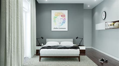 stormy gray bedroom interior design ideas