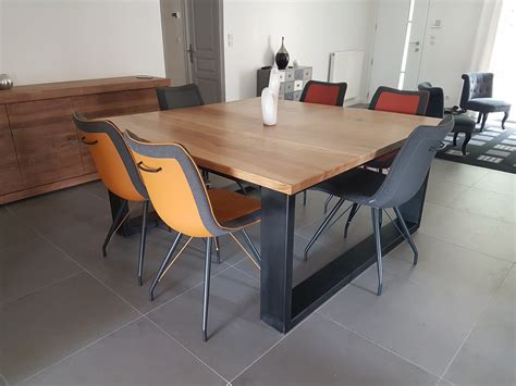 Table Carree Salle A Manger Table Basse Chene