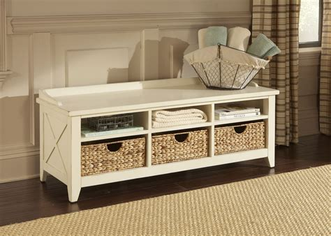 rustic storage bench hearthstone rustic white cubby storage bench from liberty