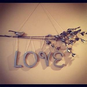 Diy love branch wall decor branches
