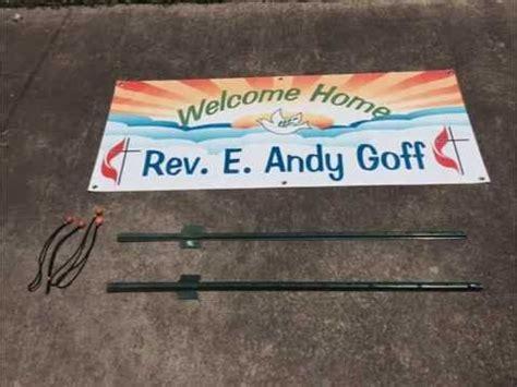 diy outdoor banner sign installation setup easy low