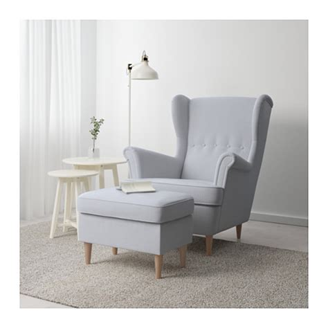 strandmon footstool nordvalla light grey ikea