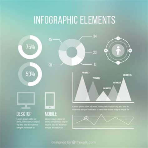 modern infographic elements vector premium