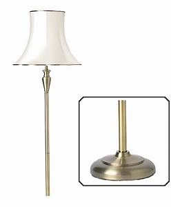 endon 39oslo39 antique brass floor lamp base only oslo With endon antique brass floor lamp