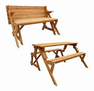 Outdoor Portable Wooden Fold Up Picnic Table With Folding