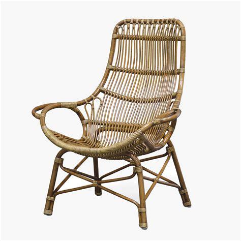 retro rattan high back chair shop palecek rattan chairs
