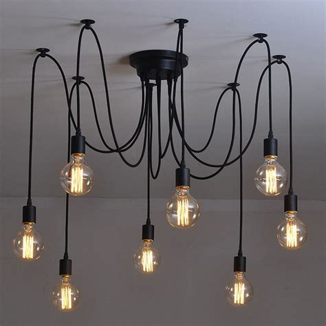 Diy Edison Chandelier by Modern Nordic Retro Edison Bulb Light Chandelier Vintage