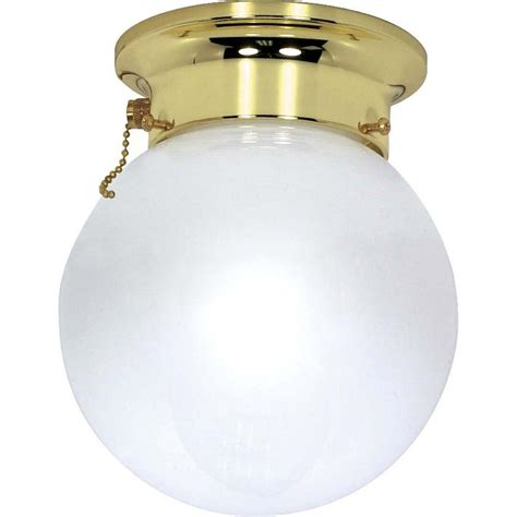 glomar elektra 1 light polished brass semi flush mount