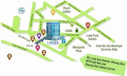 Hk Location Map Shui Sheung Landmark Station