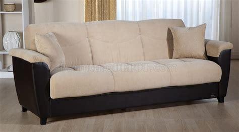 cream microfiber sectional sofa cream microfiber bonded leather base sofa bed w storage