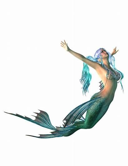 Mermaid Transparent Swimming Fantasy Myth Silhouette Sirena