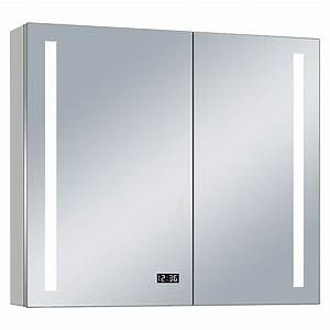 Spiegelschrank 100 Cm Led : led spiegelschrank aluminio sun b x h 100 x 70 cm mit beleuchtung aluminium bauhaus ~ Bigdaddyawards.com Haus und Dekorationen