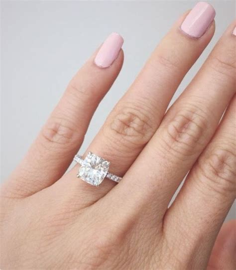 cusion cut engagement ring best 25 solitaire cushion cut ideas on