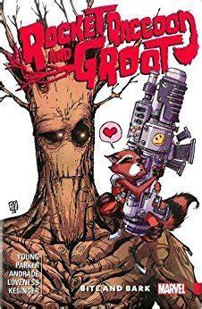 rocket raccoon groot vol  bite  bark  skottie young