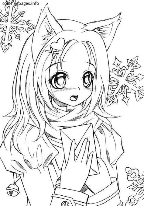 anime cat girl coloring pages  cat coloring pages  pics coloring pages  girls