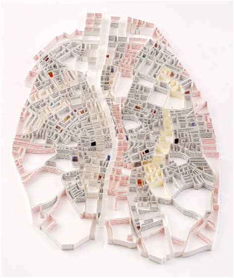 Matthew Picton's Map Sculptures of Cities Made of Books