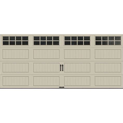 clopay garage doors home depot clopay gallery collection 16 ft x 7 ft 6 5 r value
