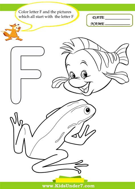 free coloring pages of start with letter f