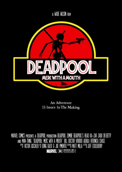 jurassic park cover deadpool merc with a mouth jurassic park cover by