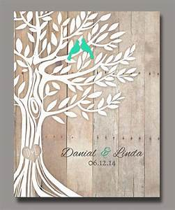 personalized wedding gift love birds in tree newly weds With tree as wedding gift