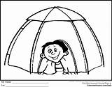 Tent Camping Coloring Igloo Drawing Clipart Preschool Sheets Printable Sheet Colouring Tents Camps Crayons Clip Theme Scout Cliparts Crayon Kid sketch template