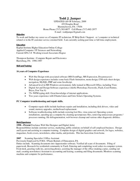 exles of resumes sle acting resume template joe