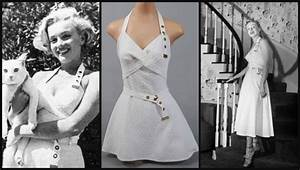 Hollywood Kostüme Ideen : white halter sundress looks like it was shortened later marilyn monroe ~ Frokenaadalensverden.com Haus und Dekorationen