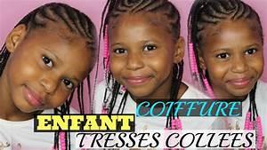 Coiffure Enfant Tresse : coiffure enfant tresses coll es avec des perles cheveux afro youtube ~ Melissatoandfro.com Idées de Décoration