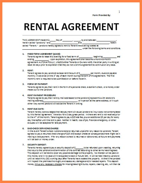 residential lease agreement template word purchase