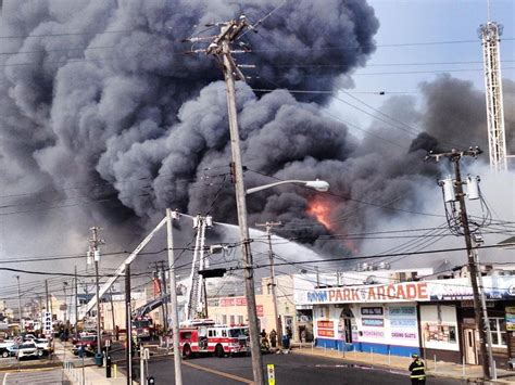 massive fire engulfs seaside heights newly reconstructed