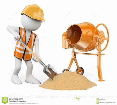 Construction Concrete Cement Worker 3d Mixer Background