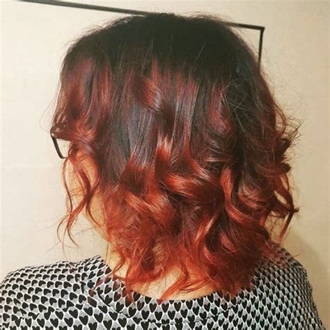 red ombre hair color   stunning ideas