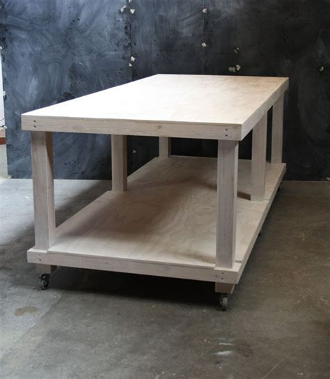 white limewash plywood  pine high table  layered work