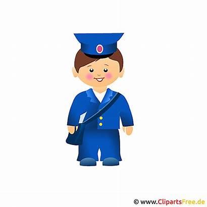Clipart Postbote Postman Clip Postino Postbud Carteiro