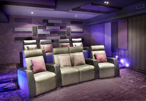montreal home theater contemporain salle de cin 233 ma montreal par deschs design