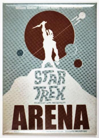 star trek arena fridge magnet  poster  spock