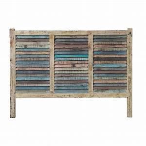Tete De Lit Maison : t te de lit en bois recycl l 140 cm calanque maisons du ~ Zukunftsfamilie.com Idées de Décoration
