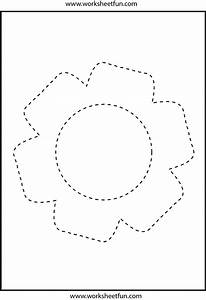 Picture tracing – Flower – 1 Worksheet / FREE Printable ...  Tracing