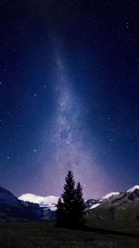 wallpaper swiss alps night sky milky  hd space
