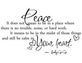 peace quotes and sayings quotesgram