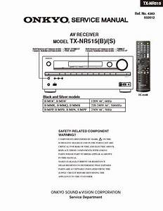 Onkyo Tx Video Receiver Service Manual
