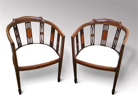 pair of edwardian mahogany club chairs 255516