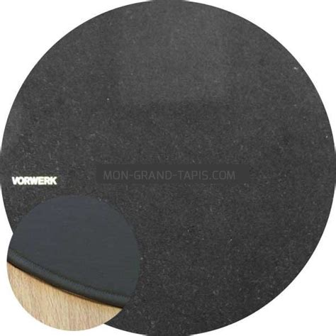 tapis rond sur mesure tapis sur mesure rond noir modena par vorwerk