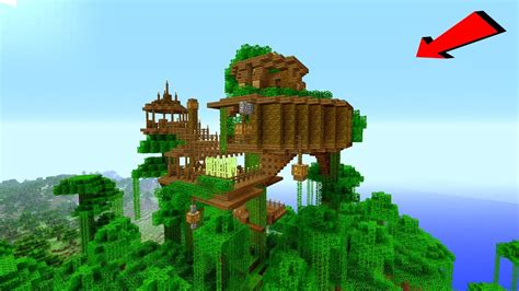 Minecraft How To Build A Jungle Village Treehouse