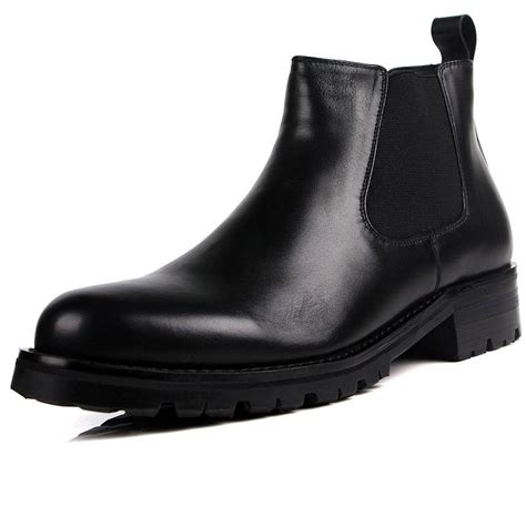 New Fashion Black Brown Mens Ankle Boots Business