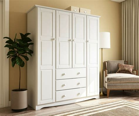 Solid Wood Wardrobe Closet by 100 Solid Wood Family Wardrobe Armoire Closet By Palace