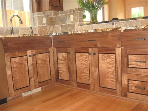 Custom Figured Walnut Cabinets . Seattle Washington. by