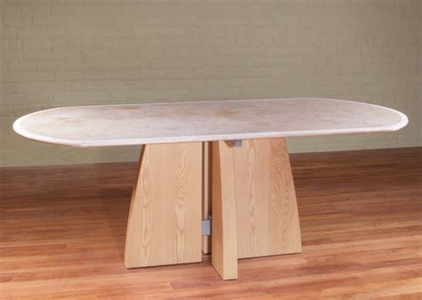 oval dining table stoneline designs