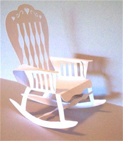 how to make a paper 3d rocking chair 5 quot high 3